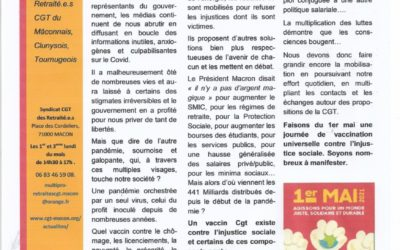 JOURNAL DES RETRAITE.ES CGT MAI 2021